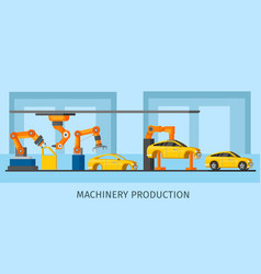 industrial automated machinery manufacturing vector image