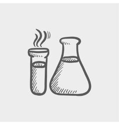 Lab supplies sketch icon vector