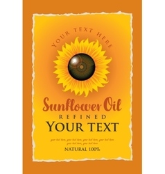 Label for refined sunflower vector
