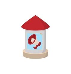 Round advertising pillar icon cartoon vector
