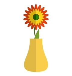Sunflower in a vase vector