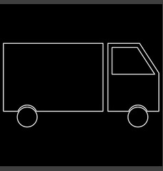 truck the white path icon vector image vector image