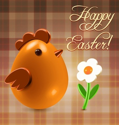 Warm Easter greetings postcard vector image vector image
