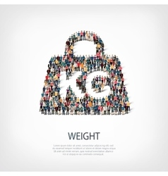weight people sign vector image