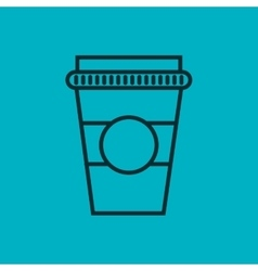 Coffee glass container isolated icon vector
