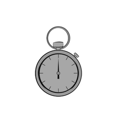 Mechanical pocket watch icon monochrome style vector