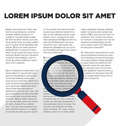 Magnified glass with document flat design vector image