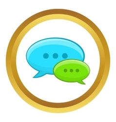 Speech bubble conversation icon vector