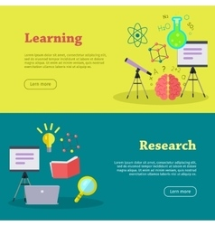 Research and learning web banners vector