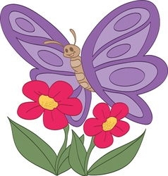 Happy Butterfly vector image