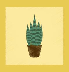 flat shading style plant sansevieria vector image