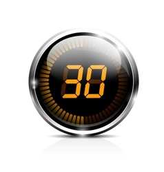 Electronic timer 30 seconds vector image