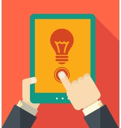 Flat Tablet User vector image