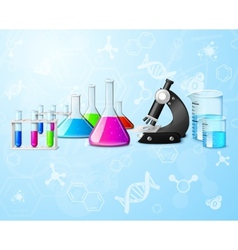 Scientific laboratory background vector
