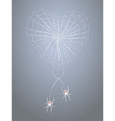 Spiders with heart vector