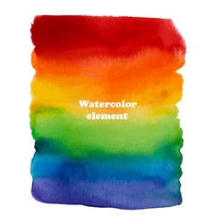 Abstract watercolor rainbow background for design vector