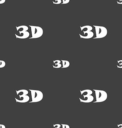 3d sign icon 3d-new technology symbol seamless vector
