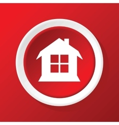 House icon on red vector