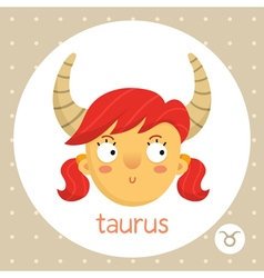 Taurus zodiac sign girl with horns vector