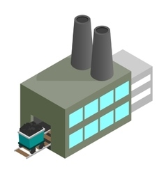 Coal plant 3d isometric icon vector