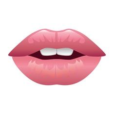 lips kiss vector image