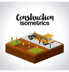 Construction isometrics design vector