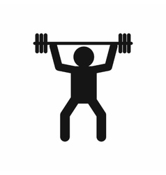 Weightlifting icon in simple style vector