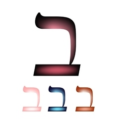 Hebrew font the hebrew language letter vet vector