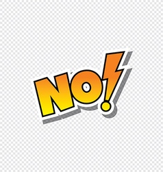 no cartoon text sticker vector image