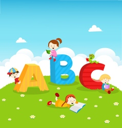 Abc kids vector