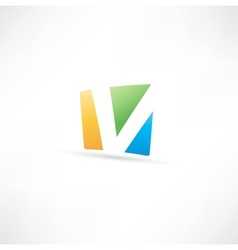 Abstract icon based on the letter v vector