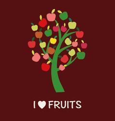 Apple Tree - - vector image vector image