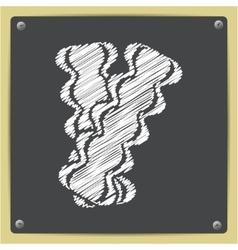 bacon icon vector image