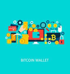 Bitcoin wallet concept vector