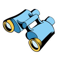 black binoculars icon cartoon vector image
