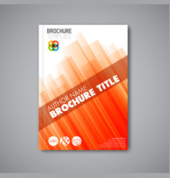 Brochure book flyer design template vector