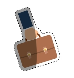 Business briefcase accesorie vector
