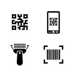 Check code simple related icons vector