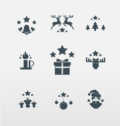 Christmas icons for Christmas vector image vector image