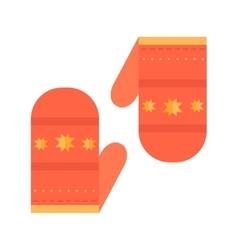 Christmas mitten vector image