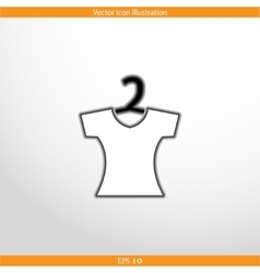 clothes for women web flat icon vector image