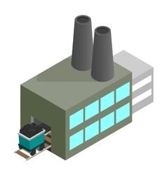 Coal plant 3d isometric icon vector
