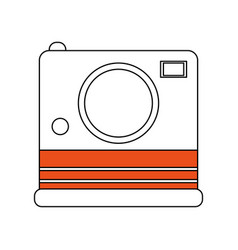 color silhouette image instant photo camera vector image vector image