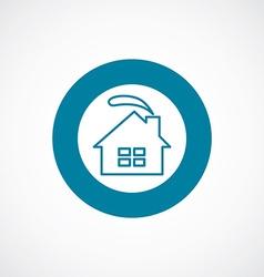 Cozy home icon bold blue circle border vector