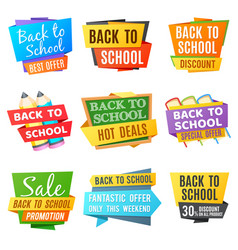 creative back to school advertising banners vector image vector image