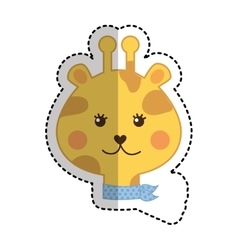 cute giraffe animal icon vector image vector image