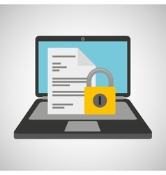 document data protection cyber security vector image
