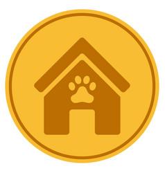 Doghouse gold coin vector
