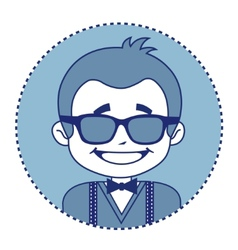Fashionable and happy showman in sunglasses vector image vector image