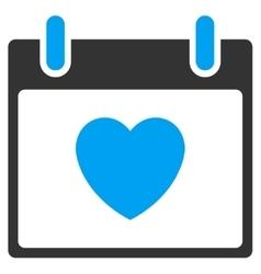 Favourite heart calendar day toolbar icon vector